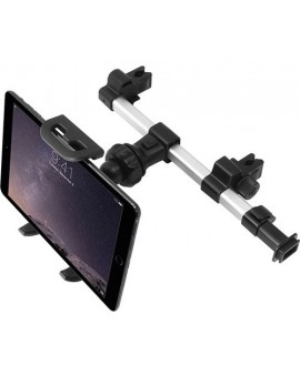 HRMOUNTPRO, Soporte ajustable de aluminio extensible para reposacabezas de coche para tablet