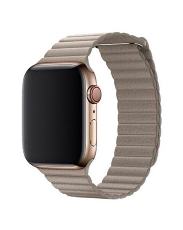 ELEGANT LEATHER LOOP 44: Correa Apple Watch 44mm Devia Leather.